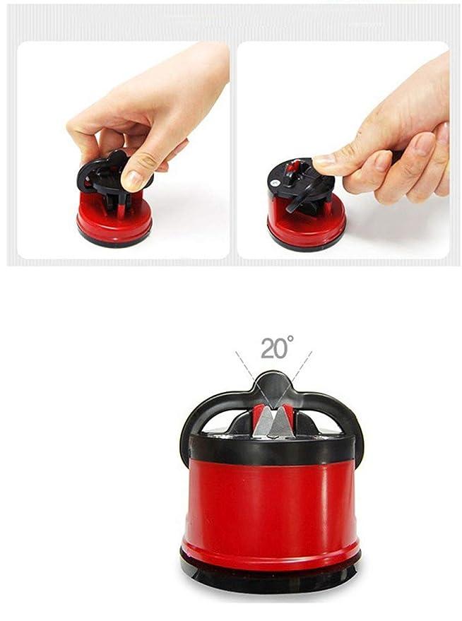 Snner 1 PC afilador de Cuchillo de la Taza de succión para Todos los Tipos de la lámina para la Cocina, Taller, Cuartos del Arte, Camping y Senderismo ...
