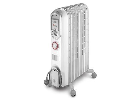 DeLonghi Vento V550920T - Calefactor, 2000 W, 60 m³, blanco