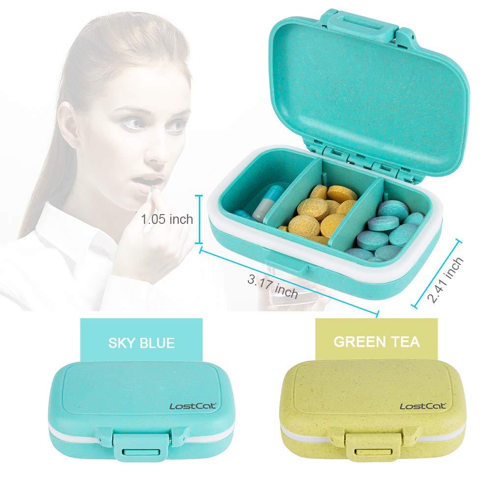 Amazon.com: LOSTCAT 2 piezas de pastillero, caja de ...