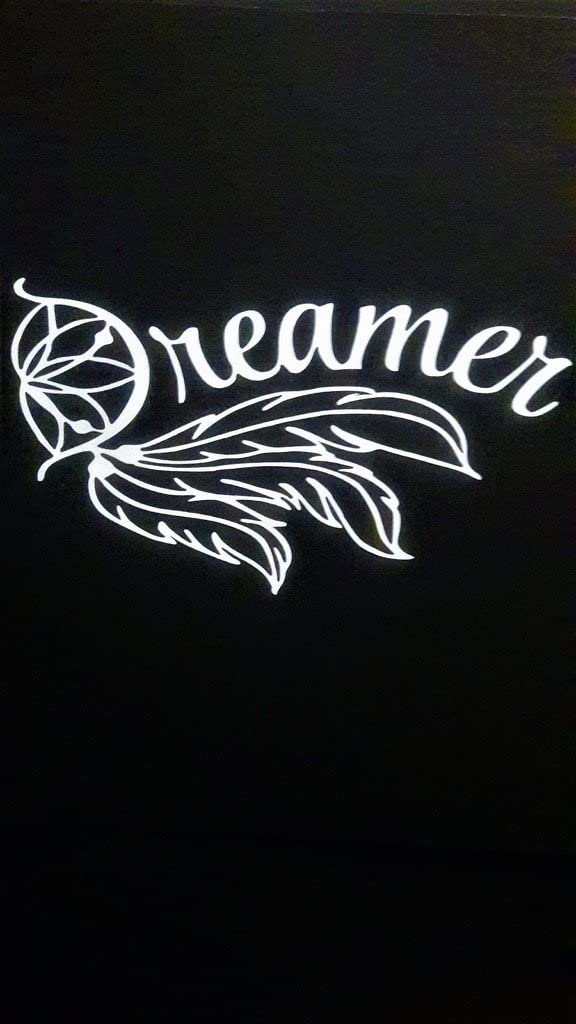 "Chase Grace Studio Dream Catcher Dreamer Vinyl Decal Sticker|WHITE| Cars Trucks Vans SUV Laptops Wall Art|7"" X 4""