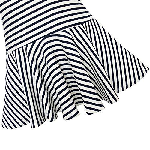 Filles Ensoleillées De La Mode Robe Pull Noeud Papillon Uniforme École Rayé Taille 5-12 Ans Noir