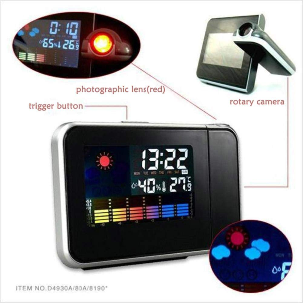 Amazon.com: projection alarm clock Attention Projection Digital Weather LCD Snooze: Clothing