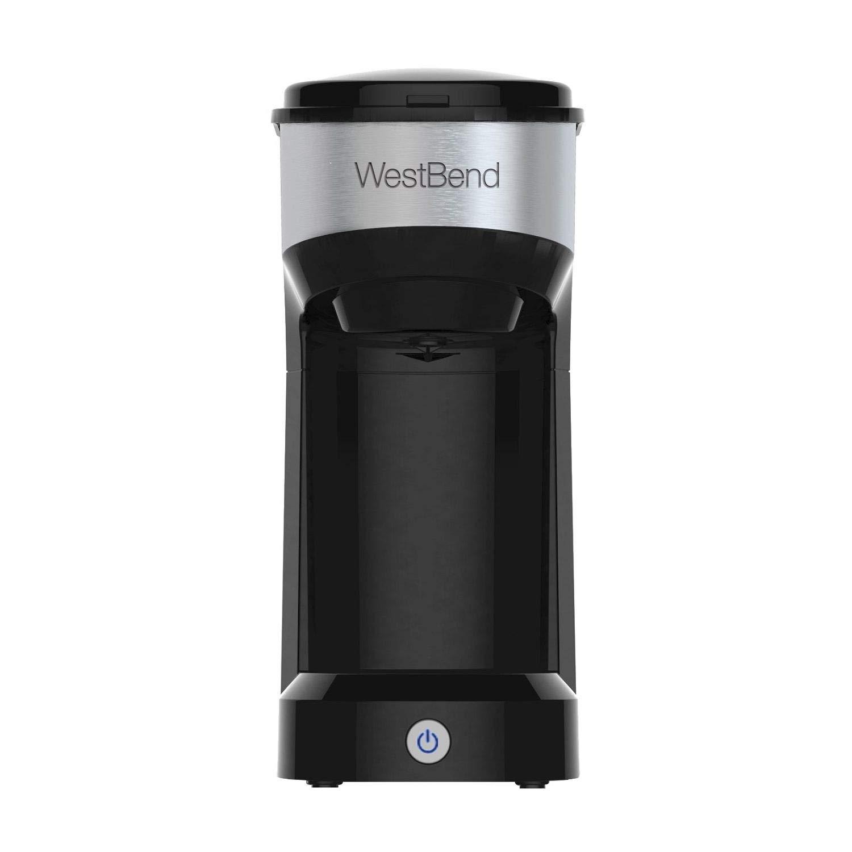 West Bend Single Serve Coffee Maker (Black) Brews K-Cups fresh ground coffee