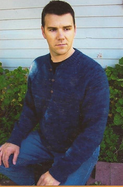 Amazon Henley Neckdown Pullover For Men Knitting Pure