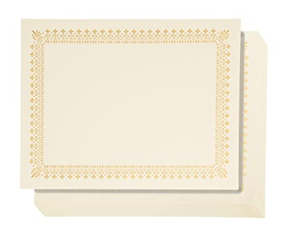 48 pack certificate papers letter size blank award certificates paper gold foil border specialty