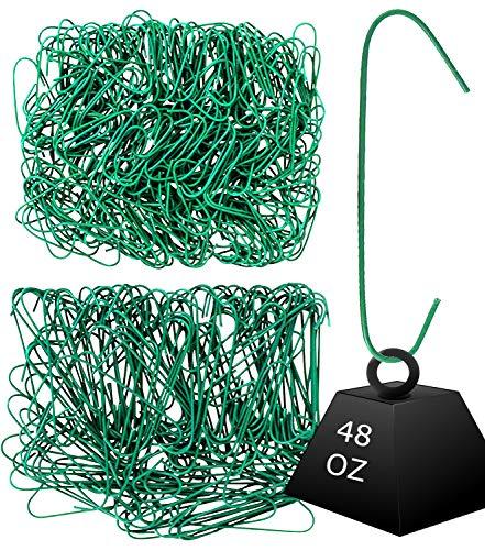 (Iconikal 450 Heavy Duty Green Christmas Tree Ornament Hooks)