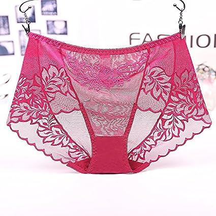 RRRRZ*Calzoncillos femeninos y telas de encaje sexy tentación Top Lomo de temperamento de gasa