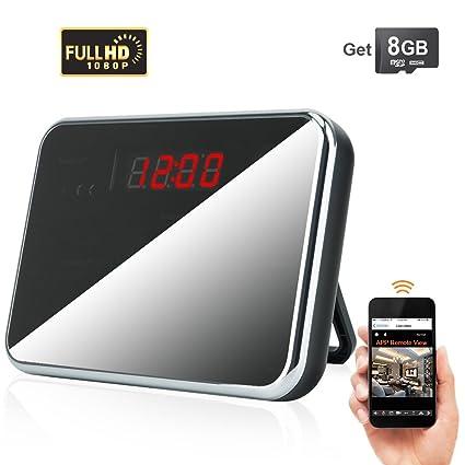 TOUGHSTY 16GB 1920x1080P HD Reloj con Cámara Espía Inalámbrico WiFi Interior Detección de Movimiento Grabador de
