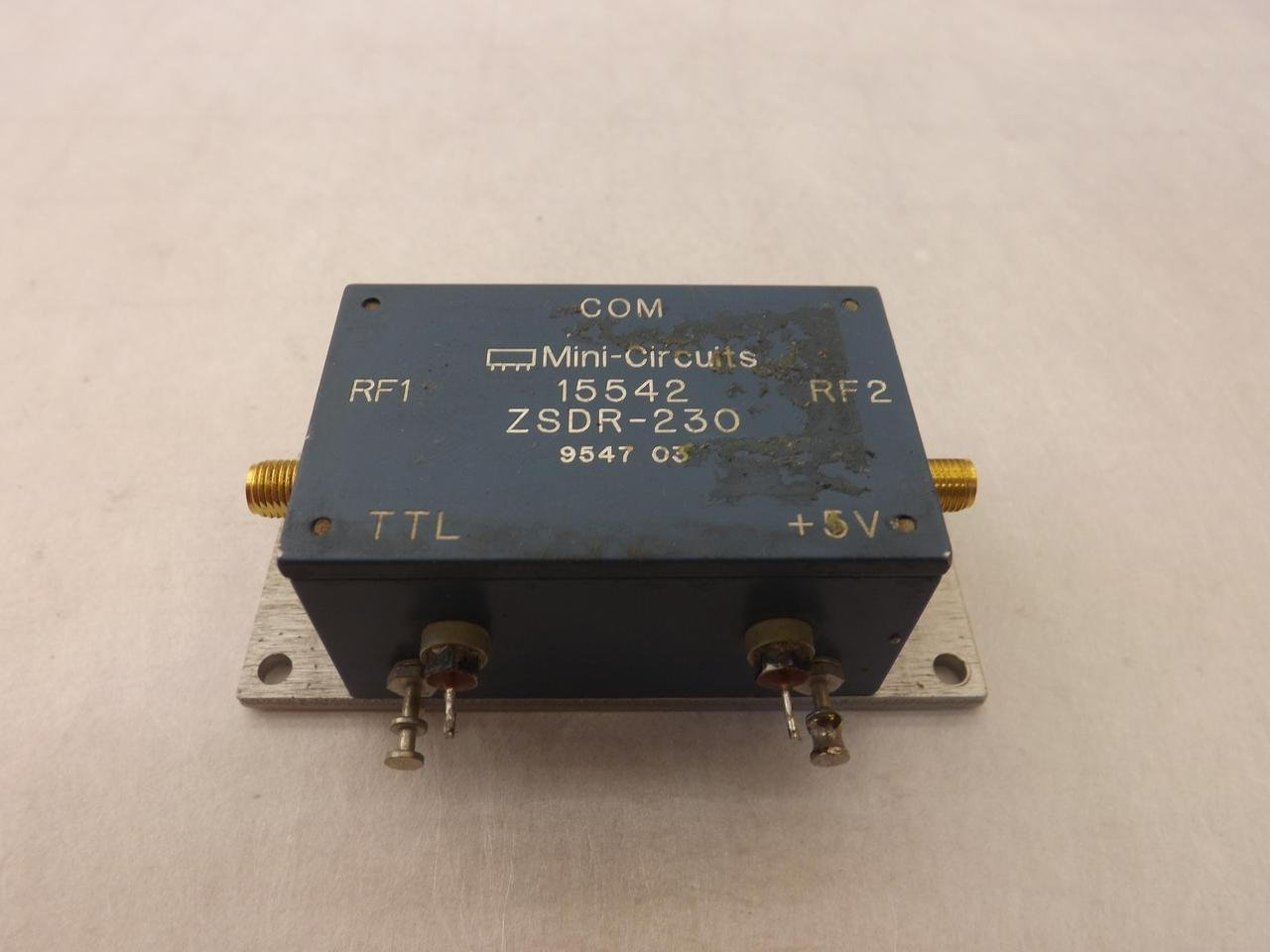 Mini-Circuits 15542, ZSDR-230 RF Microwave Switch T35651: Industrial ...