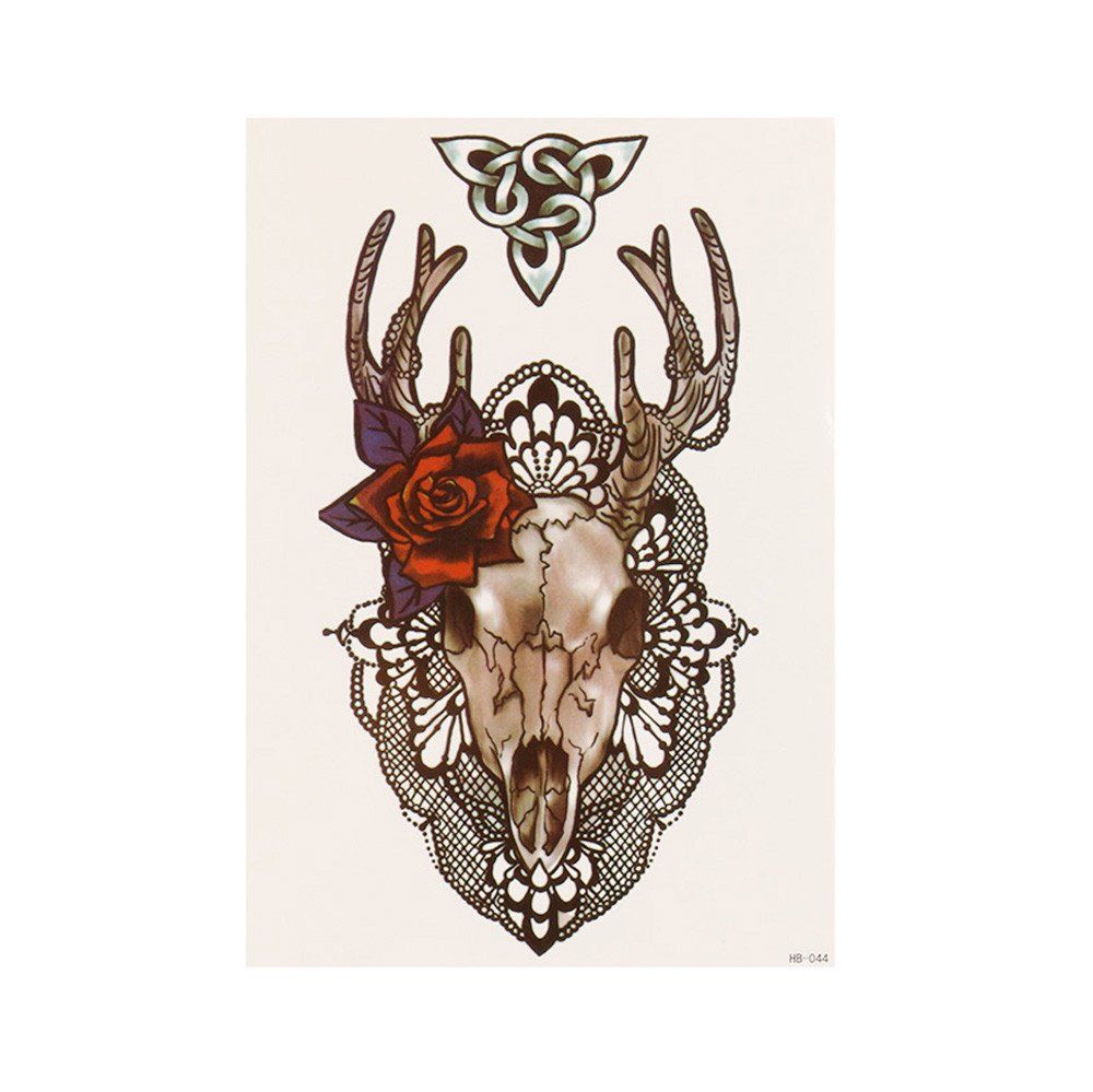 Animals Temporary Tattoo Realistic Waterproof Tattoos Stickers Removable Body Art Paper Fake Tattoos Party Favors for Women & Girls 1PC (A)