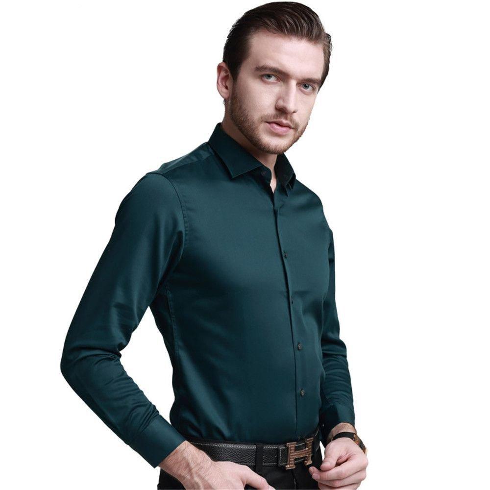 Nvunskd männer lässig Hemd Hemd  Herren - Polo - Shirt alle Match Mode,schwärzlich grün,m