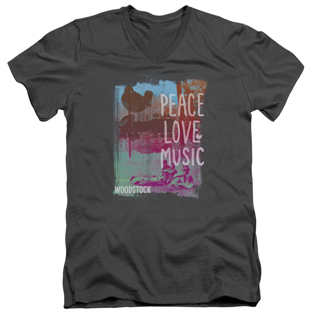 Woodstock - Peace Love Music - Adult T-shirt
