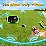 Portable Wireless 2 Dog Fence, NO WIRES TO BURY-800FT Containment System, The 3nd Generation