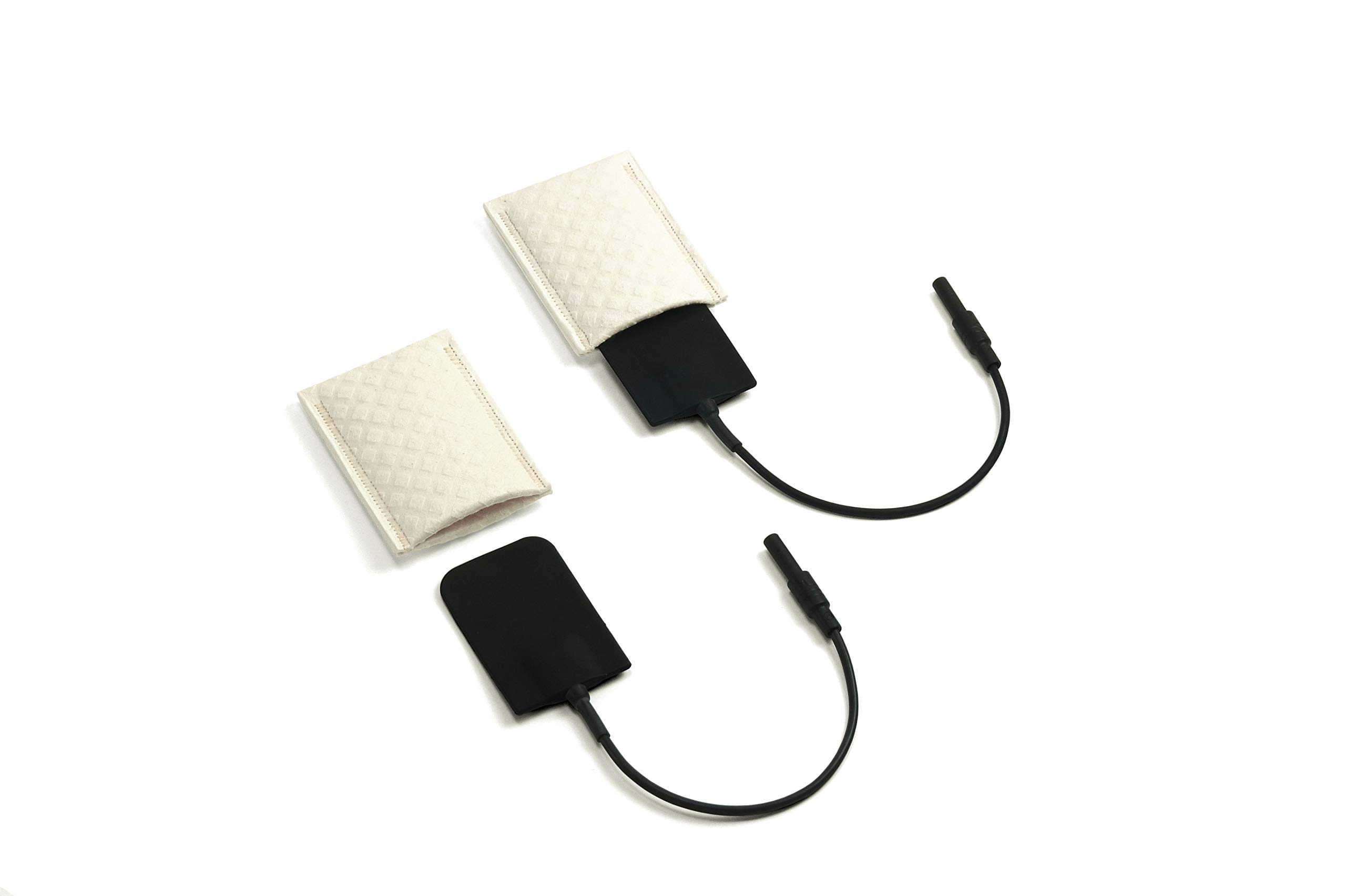 Saalio® - 1 pair of silicone armpit electrodes + sponge pockets for iontophoresis