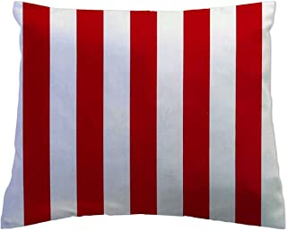 product image for SheetWorld Crib Toddler Pillow Case, 100% Cotton Woven, Red Stripe, 13 x 17, Made in USA