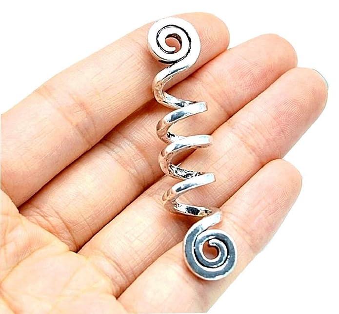 Metal Midgard Hair Beard 5 x Pipe Beads Pewter Viking Asgard Norse Accessories