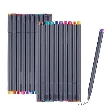 Fineliner Juego de color, lápices NIUTOP 2 de guardar 10 fina Liner ...