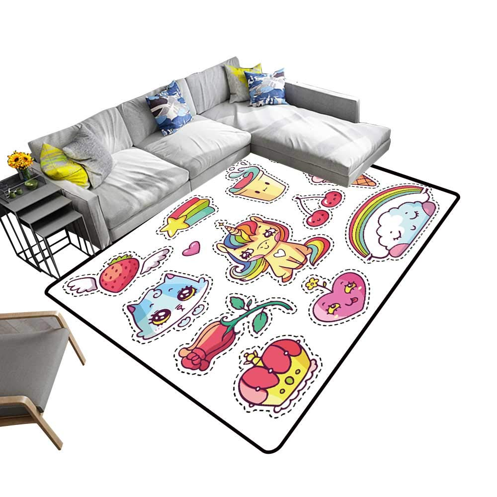 alsohome Contemporary Indoor Area Rugs pop Art Stickers Carpet for Children Home Decorate 5 X 8 Area Rugs Home & Kitchen
