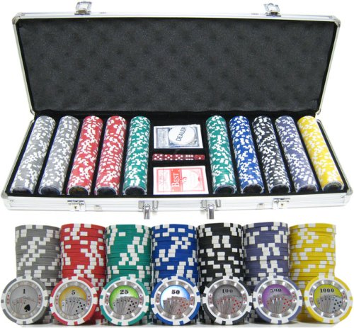 500 Piece Casino Royale Clay Poker Chip Set by JP Commerce