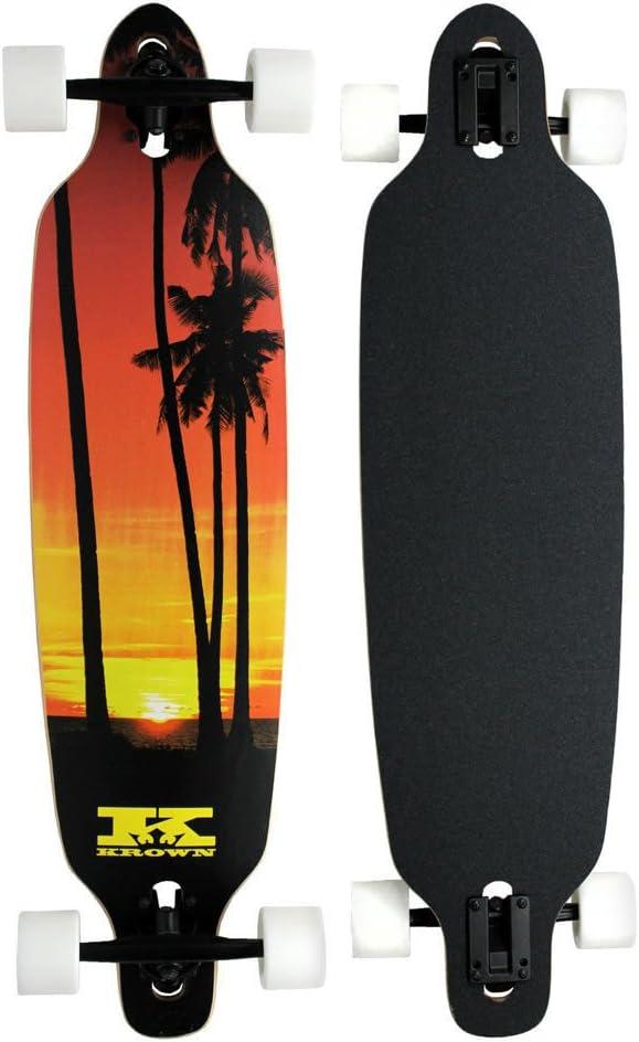 Elite Longboard 8-ply Mapleドロップthrough palm SunsetスケートボードThru