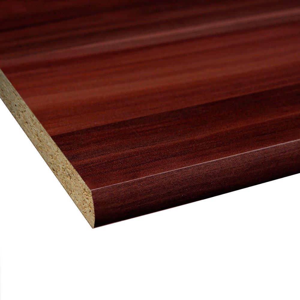 4 Seiten umleimt M/öbelbauplatte Regalbrett Zwetschge 1150 x 300 x 16 mm runde Kante