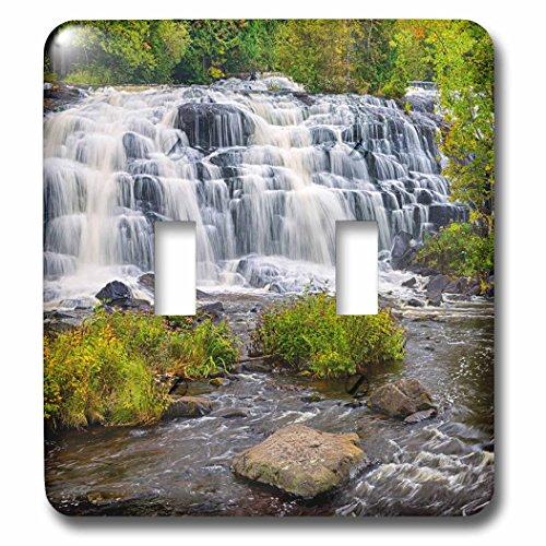 Clock Bond Metal (3dRose Danita Delimont - Waterfalls - Michigan, Ontonagon County, Bond Falls - Light Switch Covers - double toggle switch (lsp_279115_2))