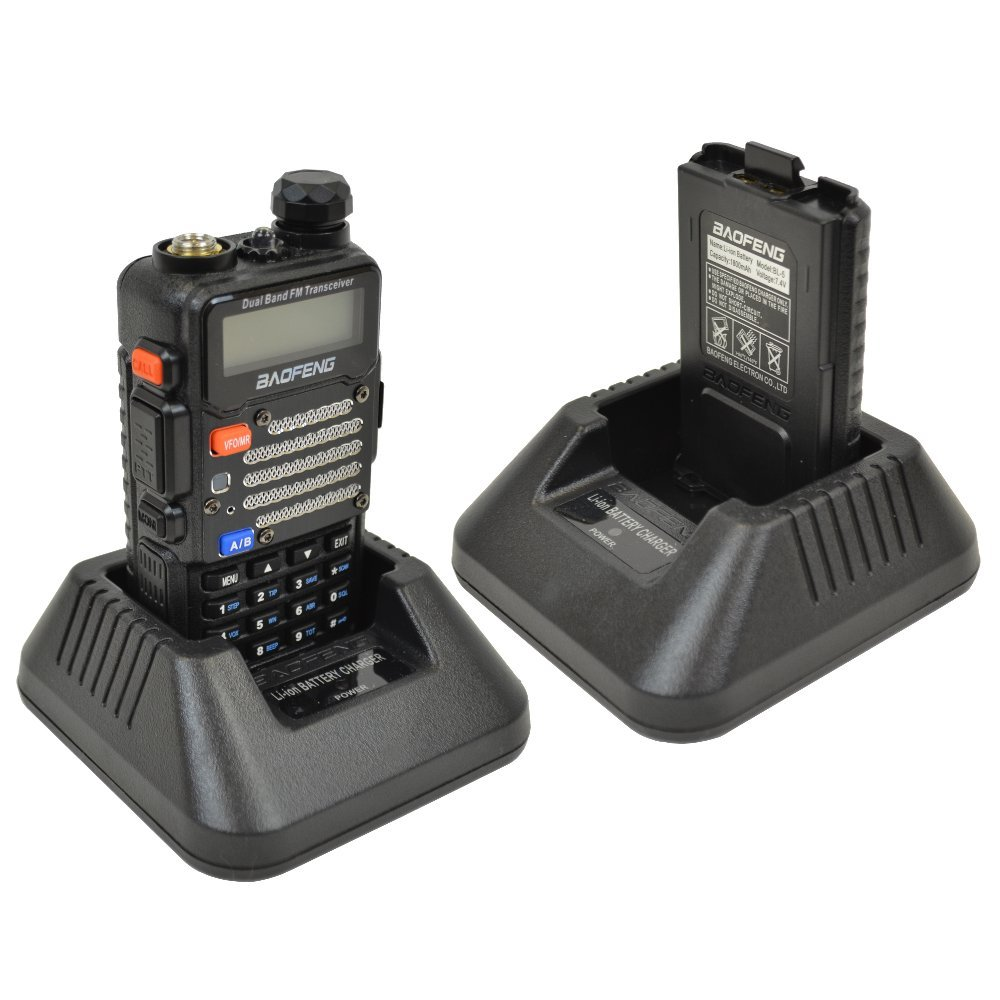 Baofeng 2-Pack UV-5R V2+UV-5R V2+ Plus Dual-Band 136-174/400-480 MHz FM Ham Two-way Radio, Improved Stronger Case, Enhanced Features - Black 2 pack (Latest 2014 Firmware) by BaoFeng (Image #3)