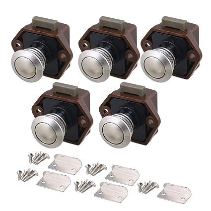 Cabinet Hardware RDEXP 26mm Dia Opening Hole Keyless Push Button