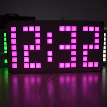 SanSiDo DIY 4 Digit LED Electronic Clock Kit DS3231 Electronic DIY Dot  Matrix LED Clock Kit Touch Key Control Brightness Adjustable Digital Alarm