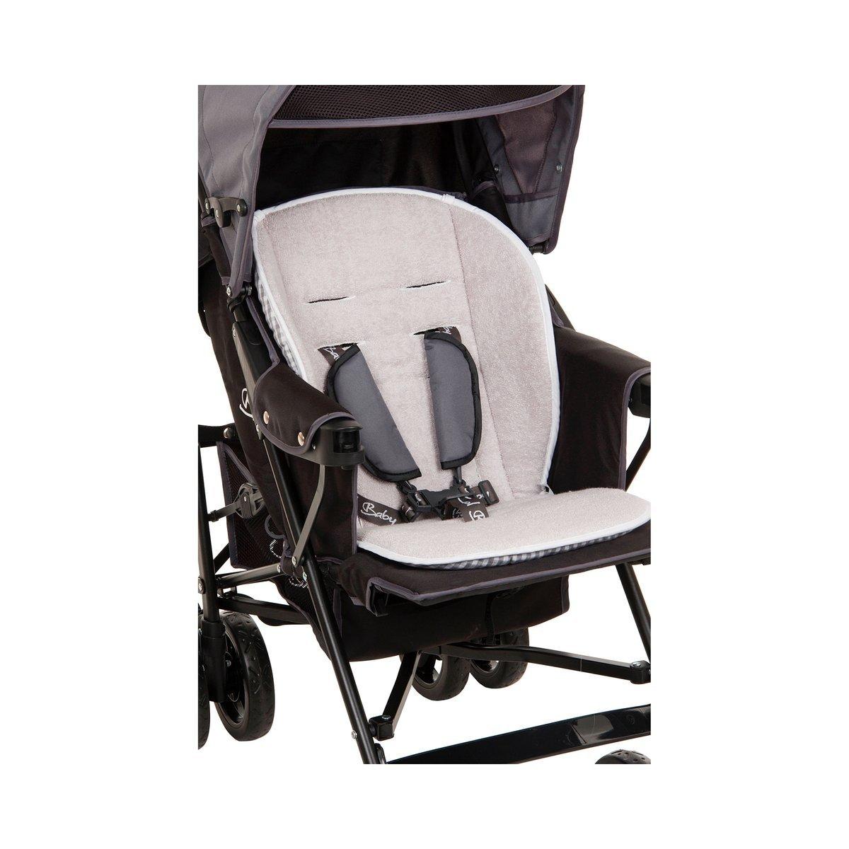 Babycab Sitzauflage Mia Lux//Wendeauflage Sportwagen//Buggy//Memory-Schaum//grau karo