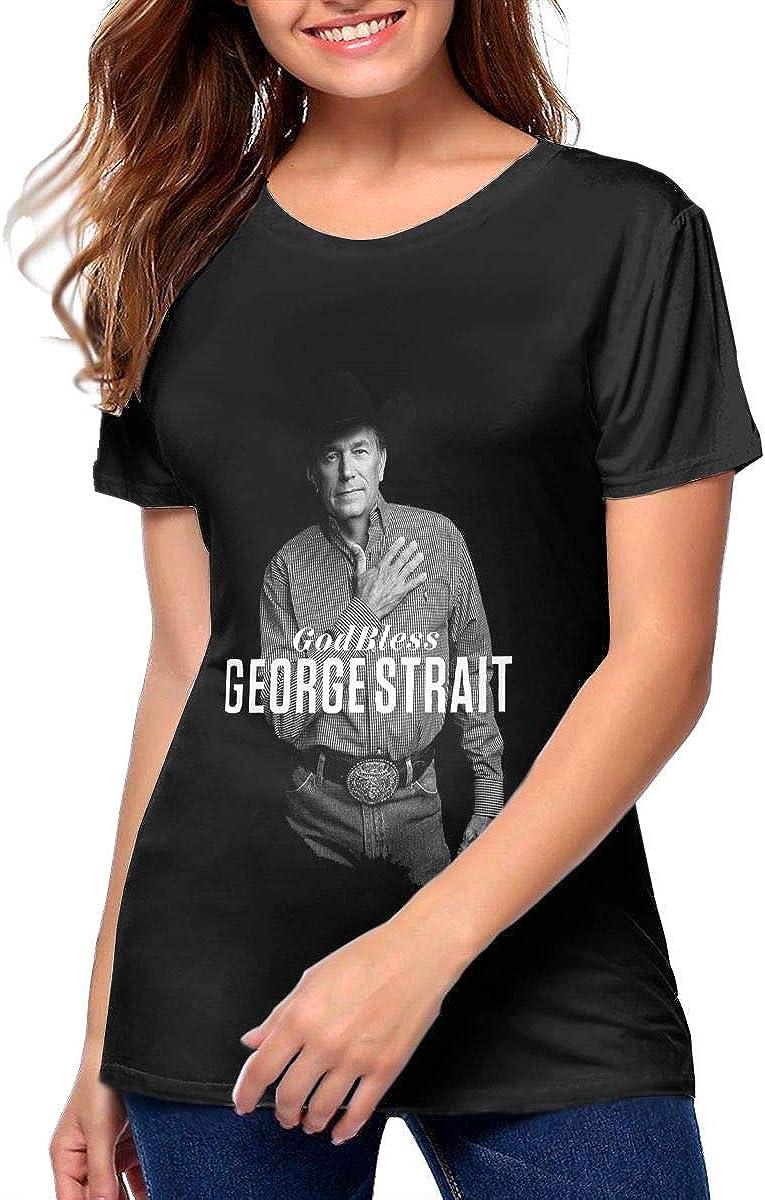 George Strait Fashionable Music Band Womens Dangerous Woman Boyfriend Fit T-Shirt Short-Sleeved T-Shirt