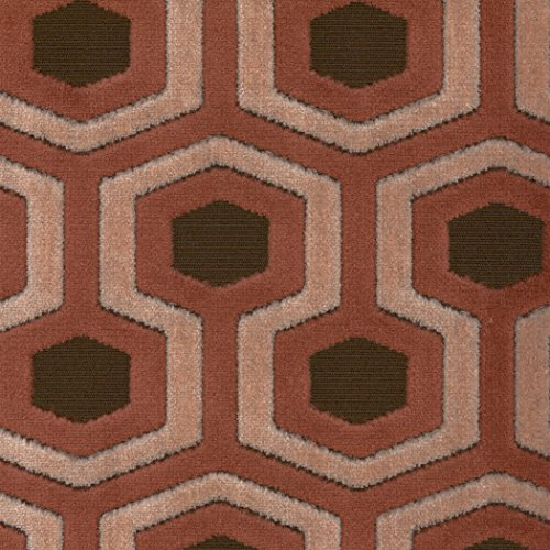 Paramount Marvelous Brown Geometric Woven Pile Upholstery Fabric by the yard (Paramount Ottoman)