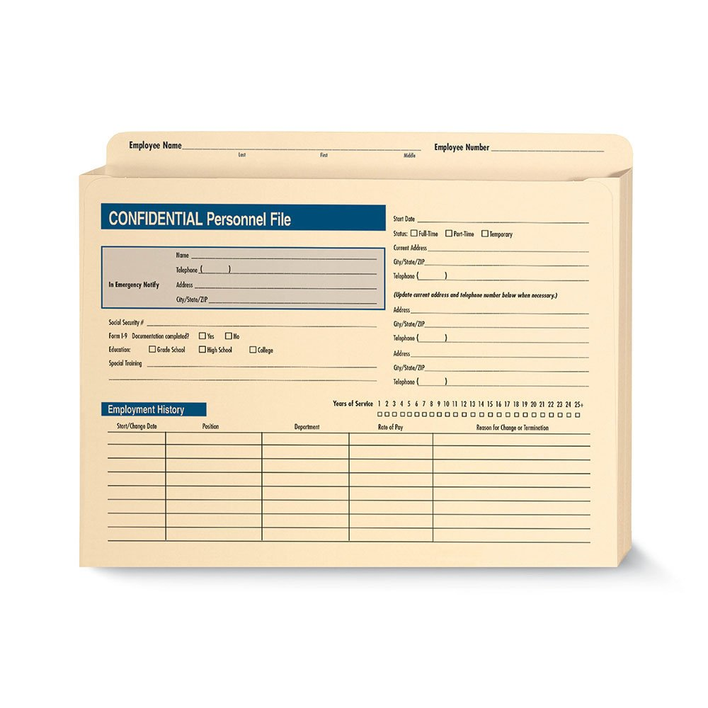 ComplyRight Confidential Personnel File Expandable (A222)