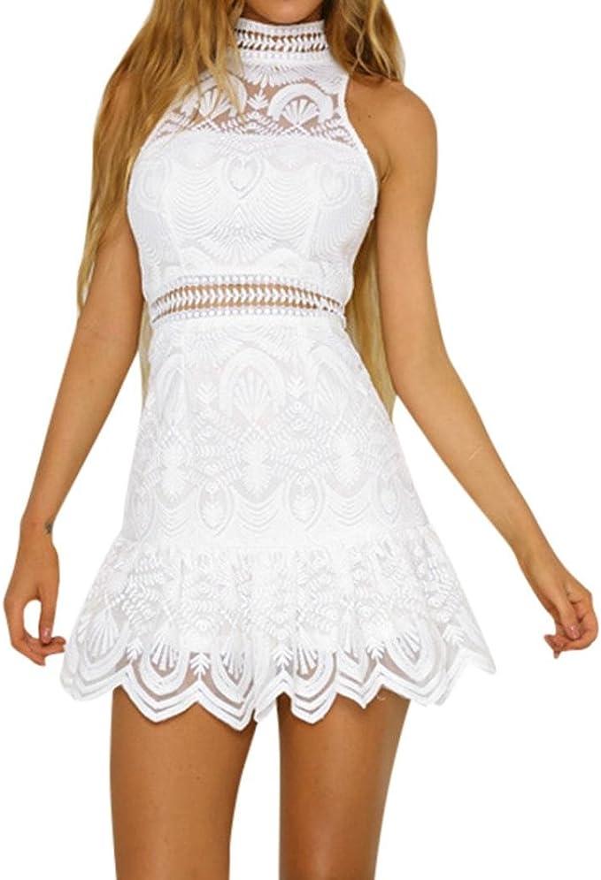 Damen Sommerkleid Backless Minikleid Partykleid Abendkleid Cocktailkleider Dress