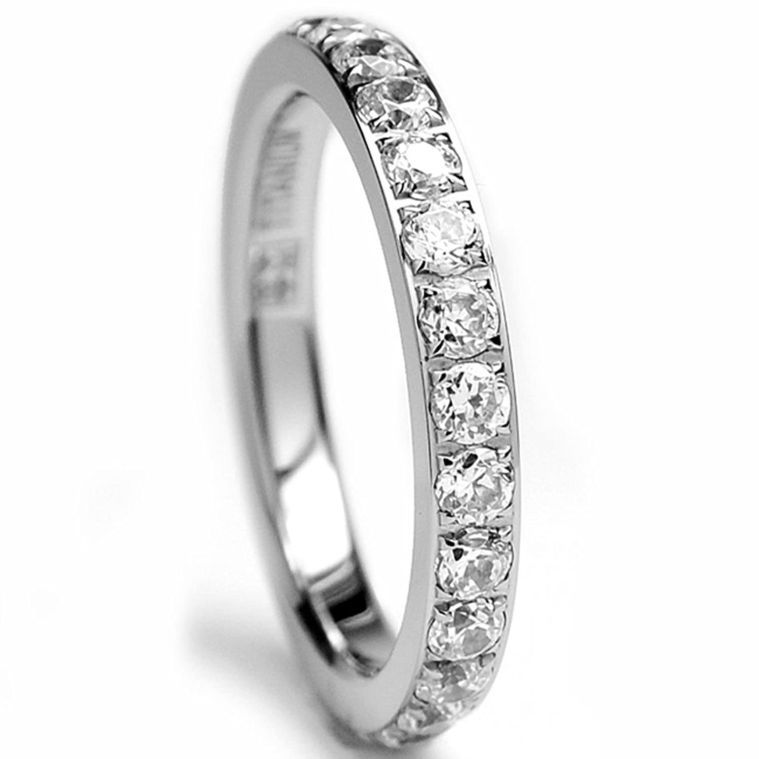 sterling pin silver eternity ring cubic band gioelli bands pave zirconia