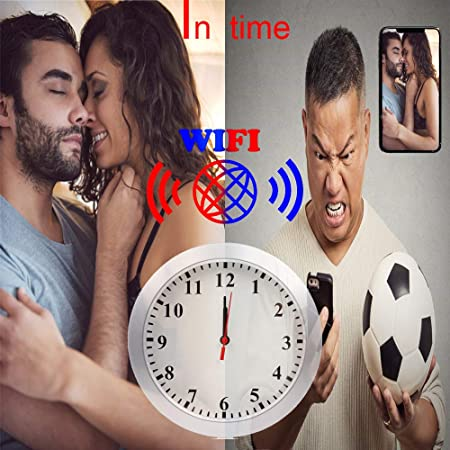 SMUKYDX WiFi Hidden Camera Wall Clock Spy Camera Nanny Cam with Motion Detection, Indoor Covert Security Camera for Home and Office