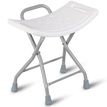 Incredible Giantex Folding Shower Chair Bath Seat Stool Bench No Slip Stainless Foldable Portable Bath Stool Machost Co Dining Chair Design Ideas Machostcouk