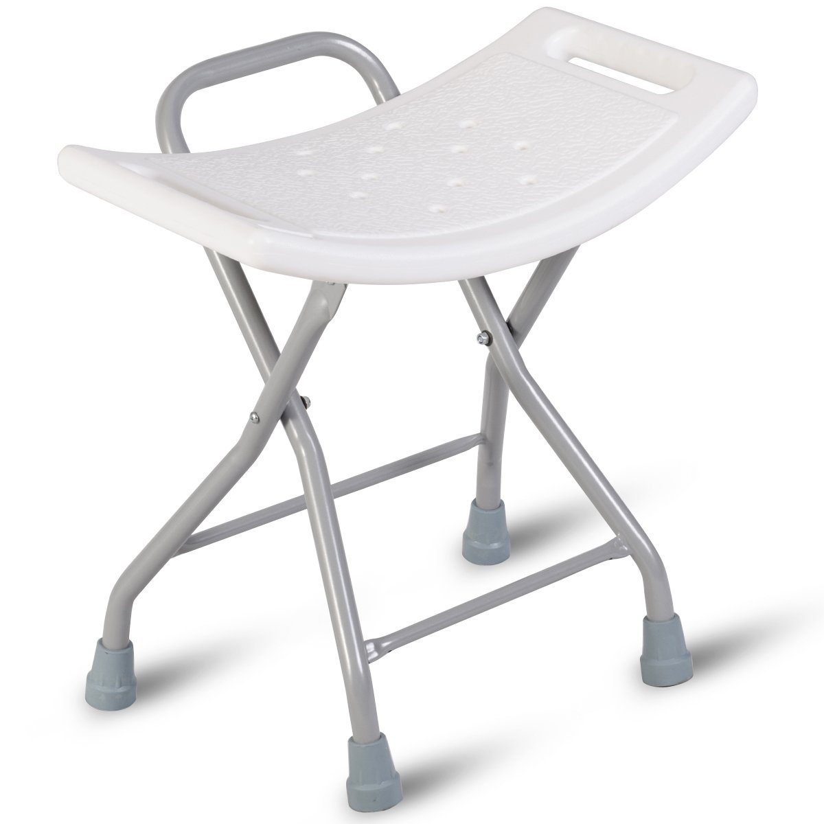 Giantex Folding Shower Chair Bath Seat Stool Bench No-Slip Stainless Foldable Portable Bath Stool