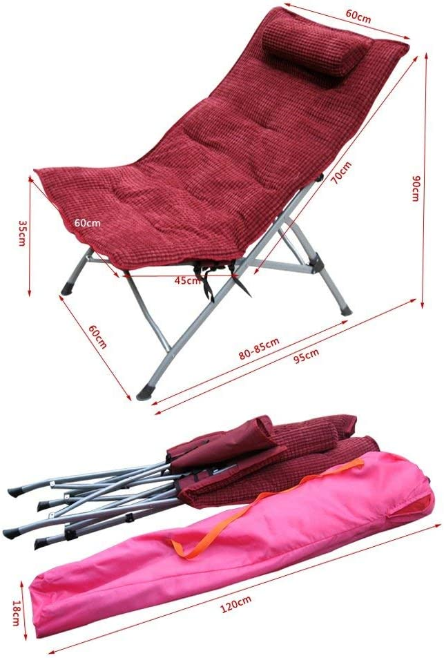 YLJYJ Lunch chair recliner chair recliner folding chair sun loungers (Color : #4) #2