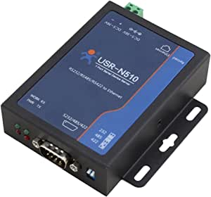USR-N510 RS232 RS485 RS422 10/100Mbps Industrial Serial Ethernet Converter High-level Serial Port Protection Serial Server Device Supports Watchdog Modbus RTU to Modbus TCP Support TCP Server TCP Client UDP UDP Server Httpd Client Work Modes