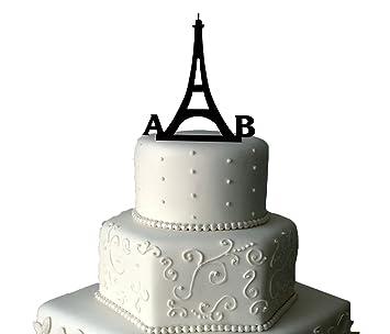 Paris Wedding Cake Topper | Personalised Wedding Cake Topper ...