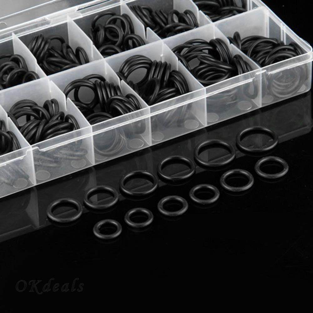 CactusAngui 225Pcs Auto Car Rubber Sealing Washers O-Ring Gaskets Seals Grommets Assort Kits