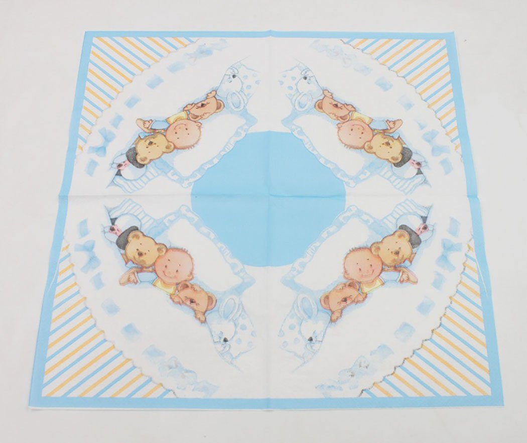 Coxeer 100PCS Cute Napkin Paper Napkin Cartoon Bear Printed Napkin for Birthday Baby Shower Party by Coxeer (Image #5)
