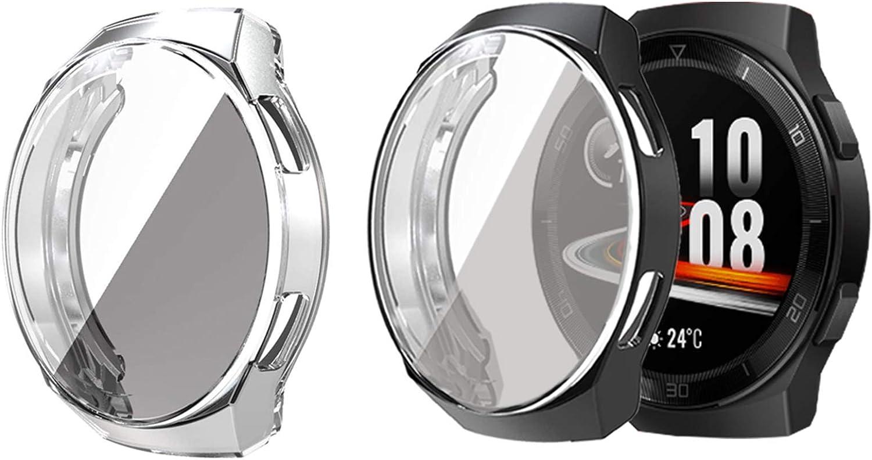 funda + protector de pantalla para Huawei Watch GT 2e pack 2