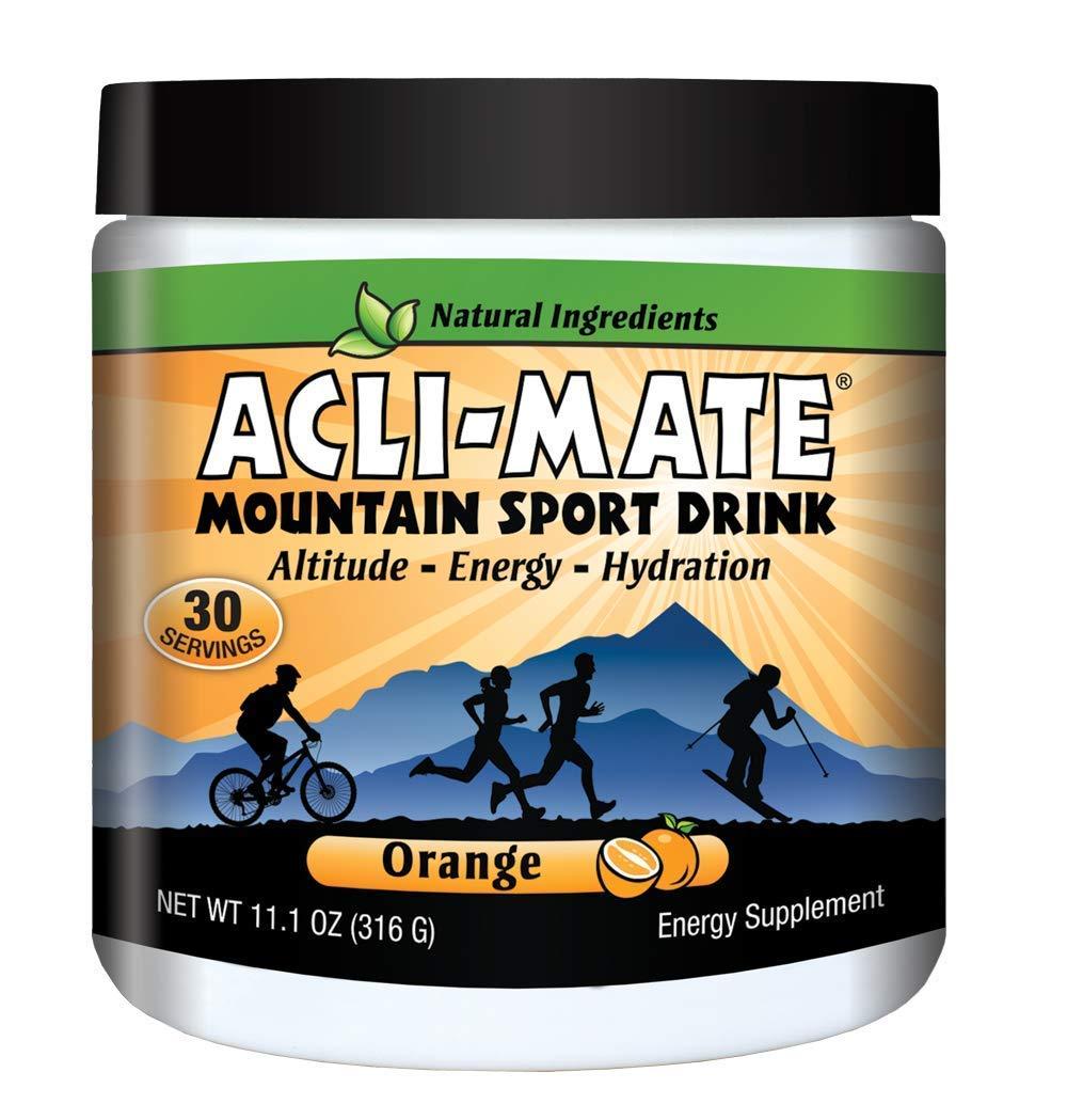Acli-Mate Mountain Sport Drink - Altitude Sickness Hydration Aid - Orange Tub