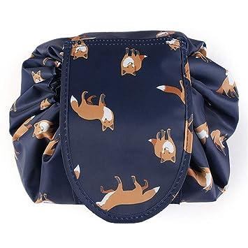 Amazoncom Adigow Lazy Drawstring Cosmetic Bag Large Fox Makeup - Fox-makeup