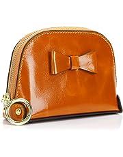 Monederos Mujer Carteras de Cuero Genuino Mini Pero Gran Capacidad, Monedero de Bolsillo con RFID