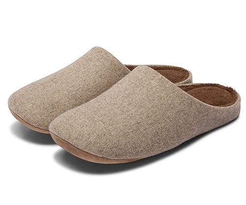 Minetom Zapatillas De Estar por Casa Mujer Interior Al Aire Libre Slipper Hombre Cómodo Antideslizante Zapatos Planos De Invierno Unisexo: Amazon.es: ...