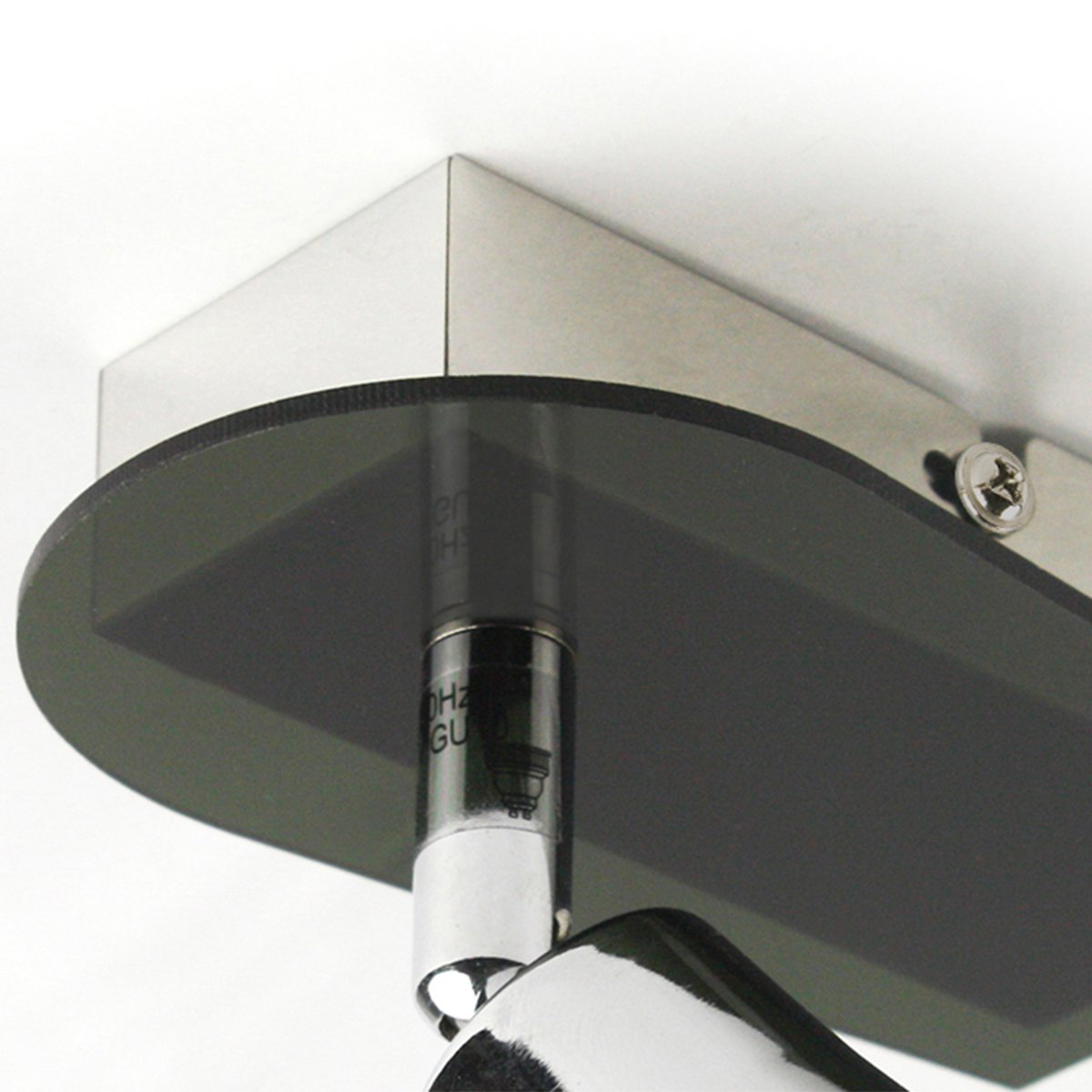 Luz de techo giratorio e inclinable 1 foco cromo GU10 L/ámpara de ahorro de energ/ía que incluye bombilla intercambiable Habitaci/ón Corredor Cocina Dormitorio Iluminaci/ón Montaje f/ácil