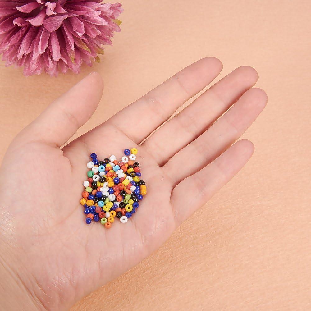 agujero: -0,3/mm. 2mm barniz al horno redondo negro 2/x 1,5/mm Fumee Blanche colores opacos Pandahall Elite/ /Bote de 100/g de perlas 11//0/perlas de cristal cristal